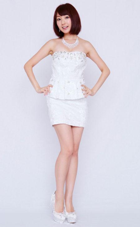 総レース×ホワイトミニドレス(DURAS)