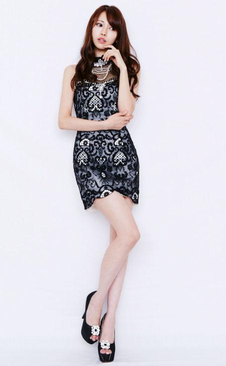 シースルー×裾カッティングデザインドレス (JEWELS)